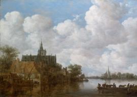 Van Goyen, Landschap met veerpont en kerk