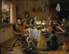 Steen, Het vrolijke huisgezin (het huishouden van Jan Steen)