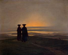 Friedrich, Avondlandschap met twee mensen