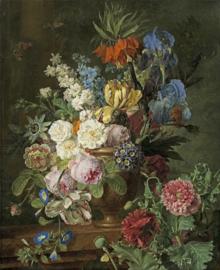 Van Dael, Stilleven met fritillarias en andere bloemen