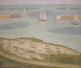 Seurat, Port-en-Bessin, ingang van de haven