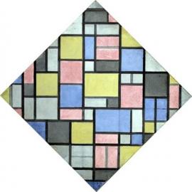 Mondriaan, Compositie met raster 6