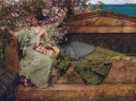 Alma-Tadema, In een rozentuin