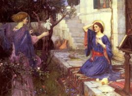 Waterhouse, De annunciatie (Maria Boodschap)