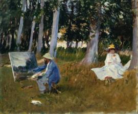 Sargent, Monet schilderend aan de bosrand