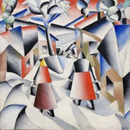 Malevich, Ochtend in het dorp na een sneeuwstorm