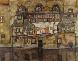 Schiele, Huismuur aan de rivier