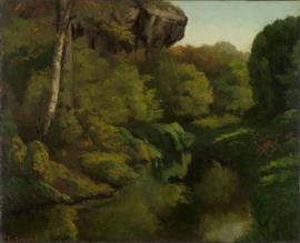Courbet, Gezicht op het bos van Fontainebleau