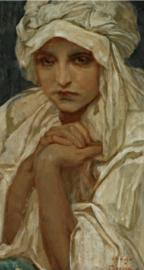 Mucha, Portret van een meisje