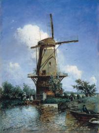Jongkind, Windmolen bij Delft