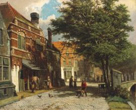 W. Koekkoek, Nederlandse stad in de zomer