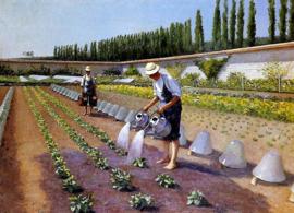 Caillebotte, De tuinmannen