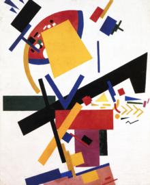 Malevich, Dames-kleurenmassa's in de 4e en 2e dimensie