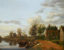 Van der Heyden, Buitenhuis aan de Vliet bij Delft