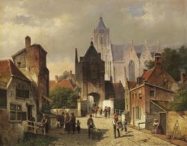 W. Koekkoek, Nederlands stadsgezicht