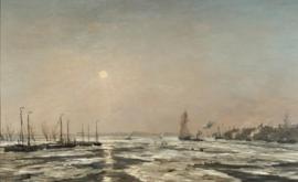Mesdag, Riviergezicht met ijsgang