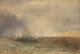 Turner, Stormachtige zee, brekend op de kust