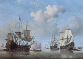 Van de Velde, Kalmte, Nederlandse schepen die voor anker komen