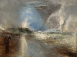 Turner, Vuurpijlen en blauwe lichten om stoomboten te waarschuwen