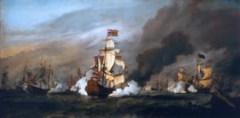 Van de Velde, De Gouden Leeuw in de slag bij Texel