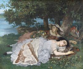 Courbet, Jongedames aan de oevers van de Seine