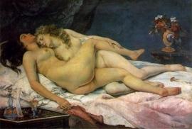 Courbet, De slaapsters