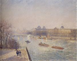 Pissarro, Ochtend op de Seine