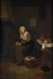 Van Brekelenkam, Oude vrouw bij de haard