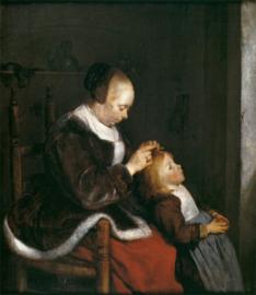 Ter Borch, Een moeder die het haar van haar kind kamt
