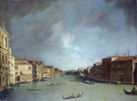 Canaletto, Grand Canal gezien vanaf Palazzo Balbi