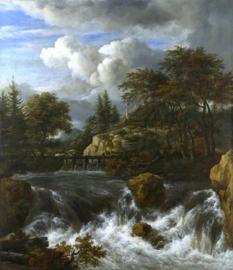 Van Ruisdael, Waterval in een rotsachtig landschap