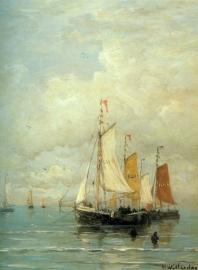 Mesdag, Afgemeerde vissersvloot