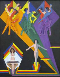 Kirchner, Dansende meisjes in lichtstralen