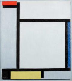 Mondriaan, Compositie met rood, blauw, zwart, geel en grijs