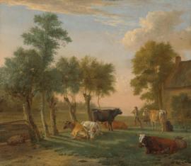 Potter, Koeien in een wei bij een boerderij