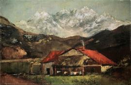 Courbet, Een hut in de bergen