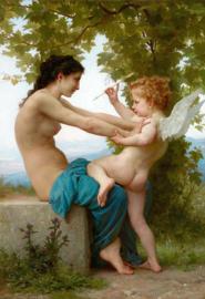 Bouguereau, Meisje dat zich verdedigt tegen Eros