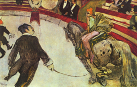 Toulouse-Lautrec, Equestrienne in circus Fernando