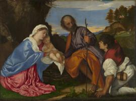 Titiaan, De Heilige familie met een herder