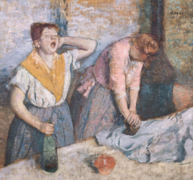 Degas, De strijksters