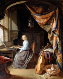 Dou, Vrouw achter het klavecimbel