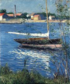 Caillebotte, Boot afgemeerd aan de Seine bij Argenteuil
