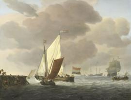 Van de Velde, Schepen voor de kust bij een flinke bries