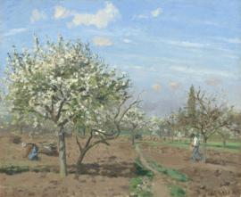 Pissarro, Boomgaard in bloei, Louveciennes