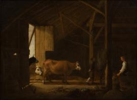 Cuyp, Interieur van een koeienstal