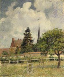 Pissarro, De kerk in Eragny