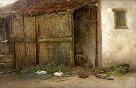 Mesdag, Schuur met witte konijnen