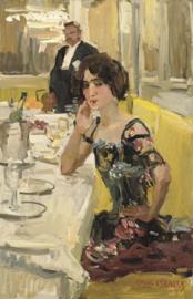 I. Israëls, Een tafel in restaurant Le Perroquet