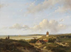 Schelfhout, Een vuurtoren en visserswoningen in de duinen