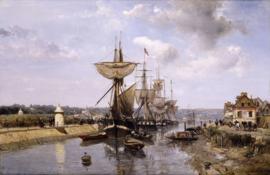 Jongkind, Fregatten, haven van Harfleur